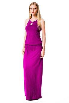 Длинное платье цвета фуксии Mondigo