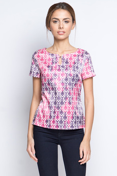 Шелковая блузка с короткими рукавами Marimay