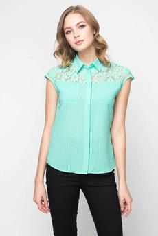 Блузка с кружевными вставками на плечах Marimay