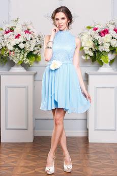 Голубое коктейльное платье Angela Ricci