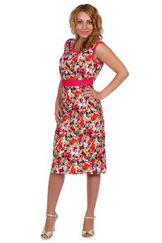Платье с цветами без рукавов ElenaTex