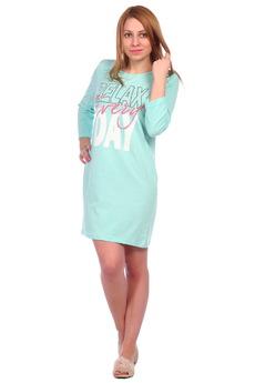 Ментоловая ночная сорочка ElenaTex со скидкой
