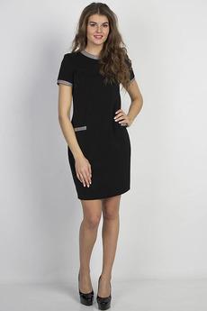 Черное платье с короткими рукавами Bast
