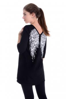 Новинка: черная туника с крыльями Malina