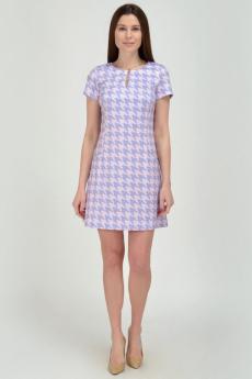 """Розовое платье с рисунком """"гусиная лапка"""" Viserdi"""