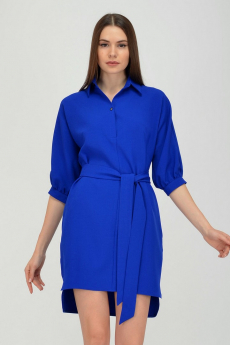 Синее платье с поясом Viserdi